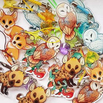 Owl, hyena and other charms are now available! by ShinePawArt