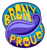 Brony Proud - Blue by KitWarrior