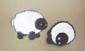 Two Layer Sheep Stencil by Sephorangelus