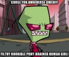 anti omniverse gwen meme - invader zim by popaandreea