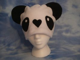 White and Black Panda Hat by HatcoreHats