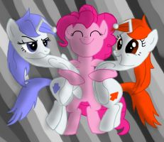 Karma, Discentia and Pinkie by Doctor-Derpy