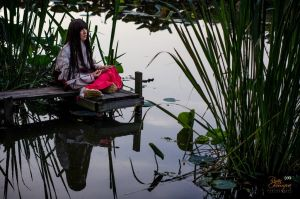 Kikyo Cosplay: Peaceful by firecloak