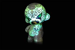 Maori Demon Black light 003 by Turuel