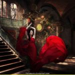Lady In Red by Fotomonta