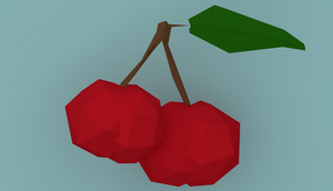 Low Poly Cherry by aweczet