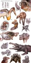 Animals Sketchdump by EleonoraBertolucci