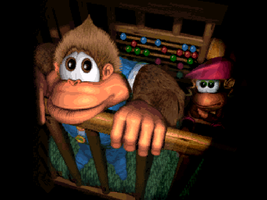 Donkey Kong Country 3 game over screenshot by cellamare