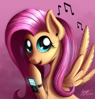 Fluttershy loves her song by Duskie-06