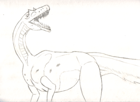 Dilong Paradoxus Sketch by Ink20