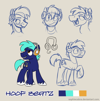 Bronycon Mascot Entry - Hoof Beatz by sophiecabra