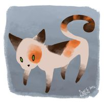 Thin Cat by Tacaret