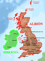 British Isles conquered by Spain by matritum