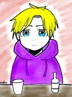 A guy in a purple hoodie by redhotcinnamontwist