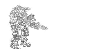 Titanfall lineart by ATTMUD24PL