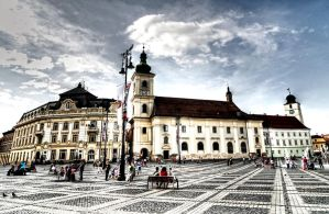 Sibiu square -Romania by Lucianluce