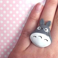 Cute Totoro ring by KawaiiMoon24