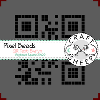 Pixel Beads QR-Code Text Evelyn 29x29 (Premium) by craftsheep