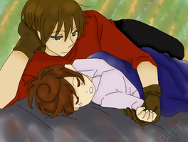 Spamano: Cute Sleeping by Bad-Touch-Tomato
