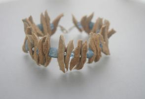 Sea urchin - Alaska native moose bracelet by EskimoScrybe