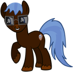 My first vector of, TheAnYPony. by Flutterflyraptor