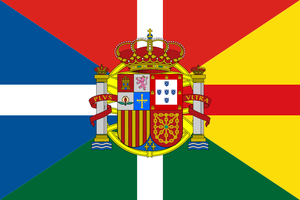 Flag of Iberia with element for Asturias by hosmich