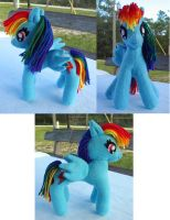 Upgrade Rainbow Dash plush by Tofutastic