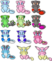 Mew adoptables by Mewitti