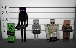 Minecraft Mob Lineup Wallpaper by younggeorge