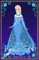 Queen Elsa from Disney's Frozen by LadyRaw90