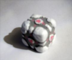 Weighted Companion Cube Clay by Wolfriderxangel