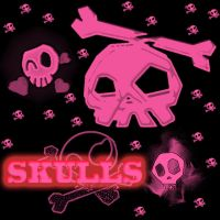Cute Skull brushes PS by maddyboi73