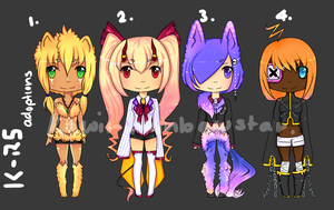 Adoptables Batch 4 -CLOSED- by rainbowstar-chan
