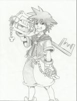 Sora - Kingdom Hearts by SnowFallAtTwilight