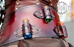 Steampunk belt bottles by LahmatTea