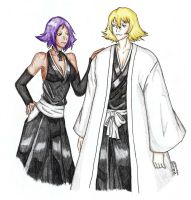Bleach: Yoruichi and Urahara by CrimsonStigmata2501