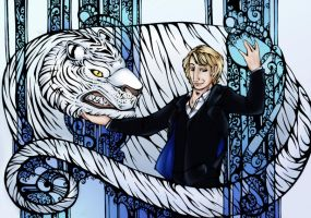 Sebastian Crowley and His Tiger by HechiceraRip
