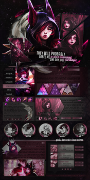 Xayah: the rebel, layout by notmi