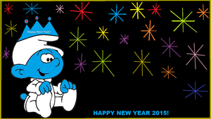 Baby Smurf celebrates The New Year! by Smurfette123