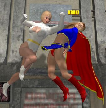 Galatea vs. Supergirl by cattle6
