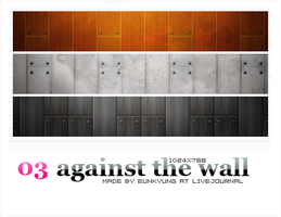 against the wall by Bourniio