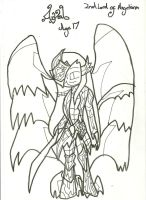 Azrael War Pic: Uncoloured by xxxBrokenSoulxxx