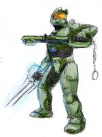Heartblade Master Chief by jameson9101322