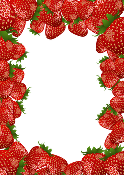 Strawberry Frame by flashtuchka