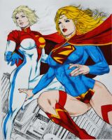 Supergirl and Powergirl by StormbreakerDesigns