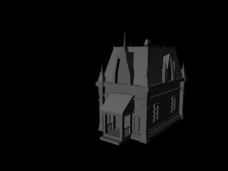 3D Victorian House by ZombieT-Bag