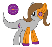 Commission: Sally Snipe the Unknown Type Pony by SilverRomance