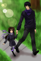 DGM: Walking with brother by GazeRei