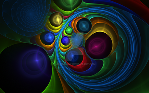 Spiral Marbles by dreamerscove
