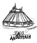 Space Mountain Sketch by cartoonation